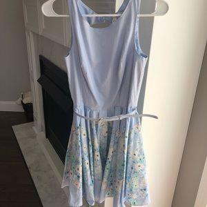 Lauren Conrad Easter Spring Blue Floral Midi Dress